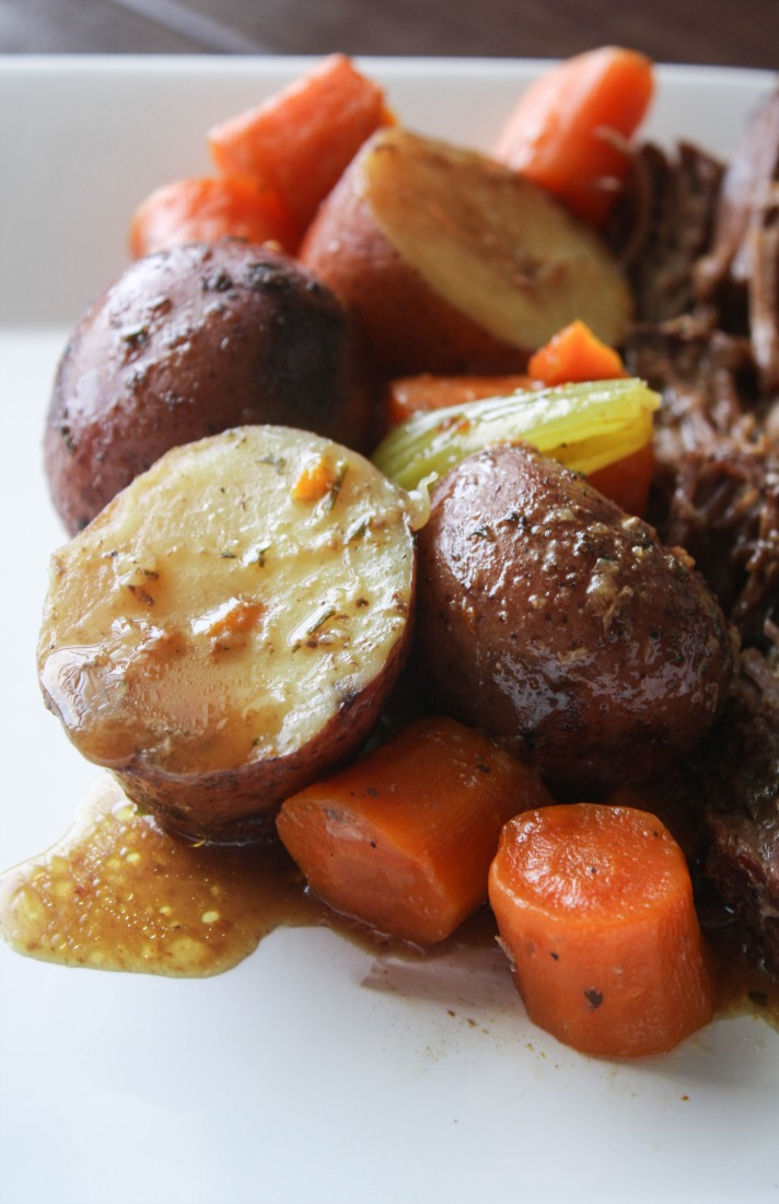 This Instant Pot 3 Packet Pot Roast Recipe is delicious tender comfort food that is ready in an hour and thirty minutes.