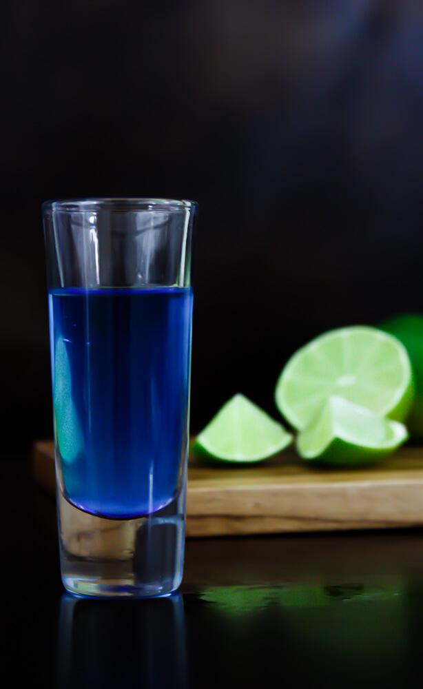 Blue Kamikaze Shots