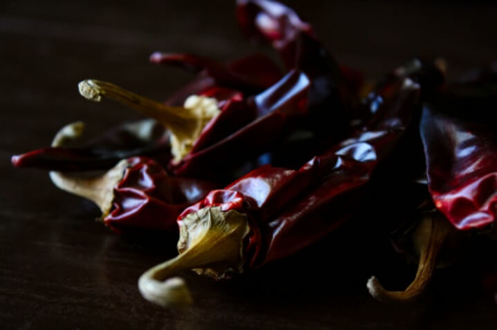 Dried Chili Peppers used to make Red Chili Sauce for Tamales