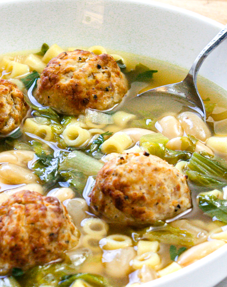 Escarole and Bean Soup with Meatballs 1