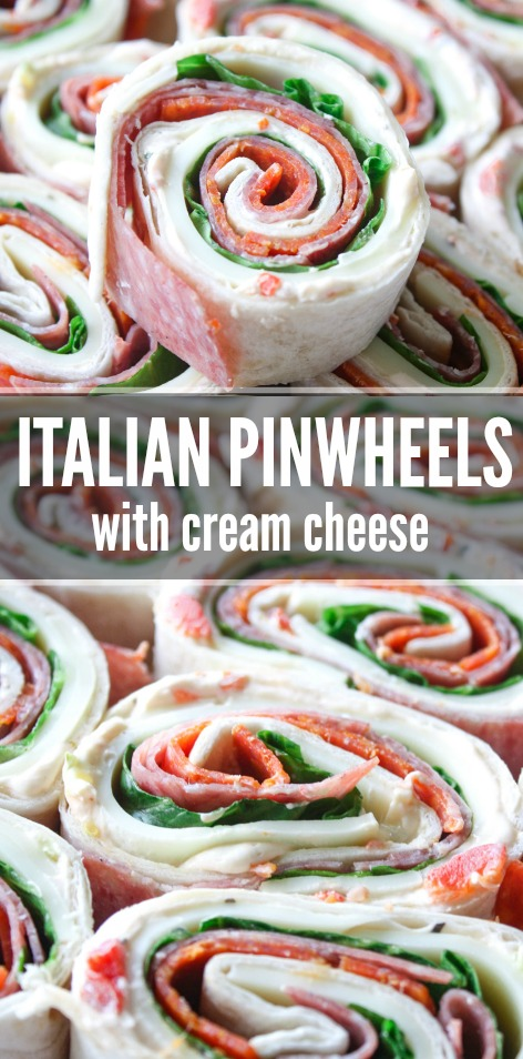 Italian Pinwheel Sandwiches with Cream Cheese
