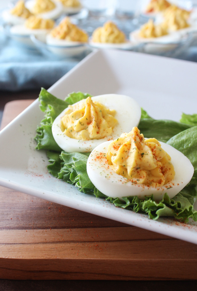 Deviled Eggs with Whole Grain Mustard