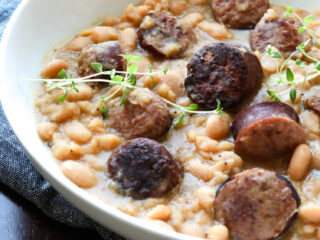 Slow Cooker White Beans and Sausage Recipe