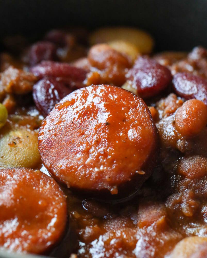 Slow Cooker Cowboy Beans
