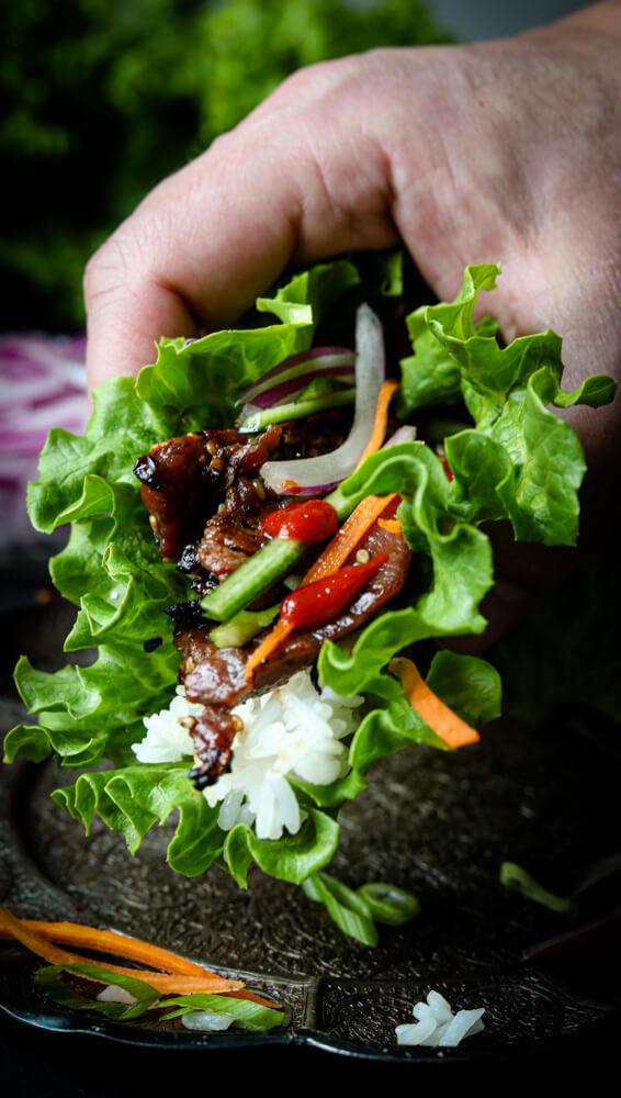 Beef Bulgogi Lettuce Wraps 1