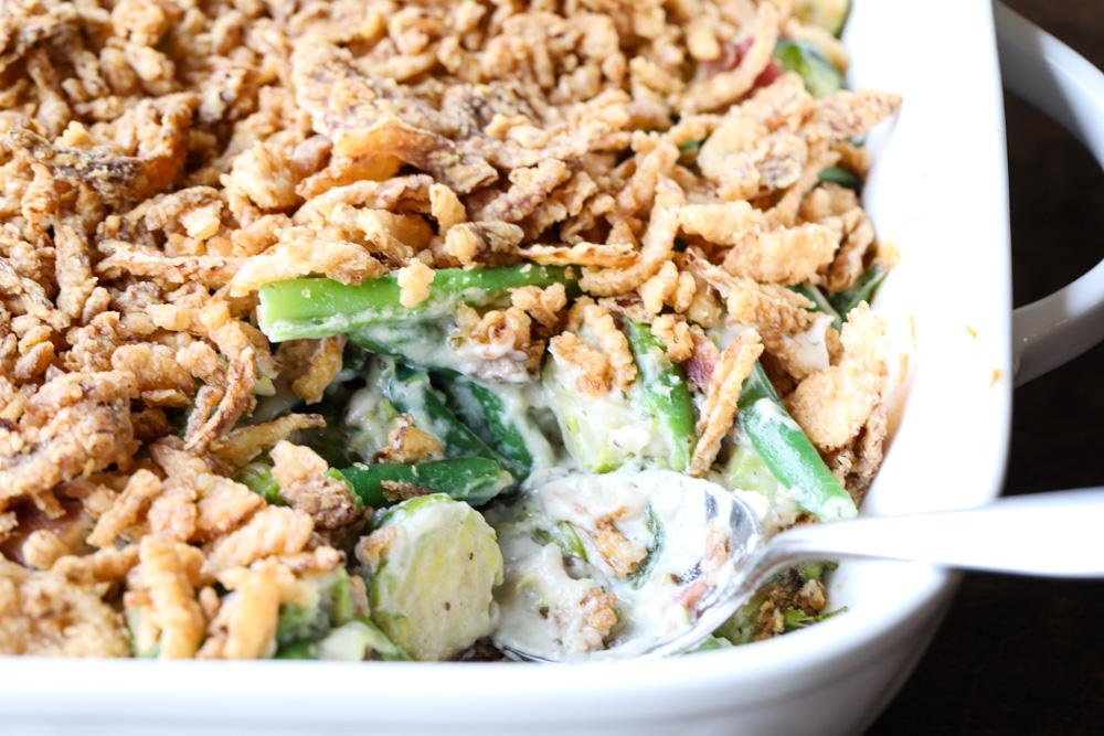 Green Bean Brussels Sprout Casserole 2
