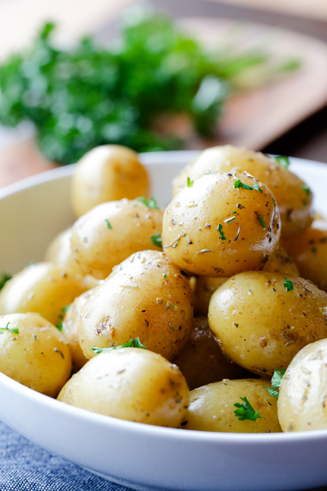 Boiled Baby Potatoes