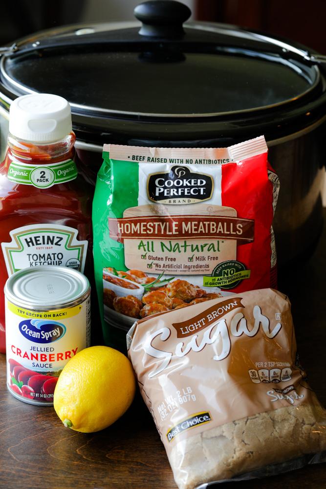 Ingredients for Crock Pot Cranberry Meatballs